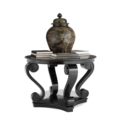 Ralph Lauren by EJ Victor - Black One Fifth Scroll Hall Table - 4600-55