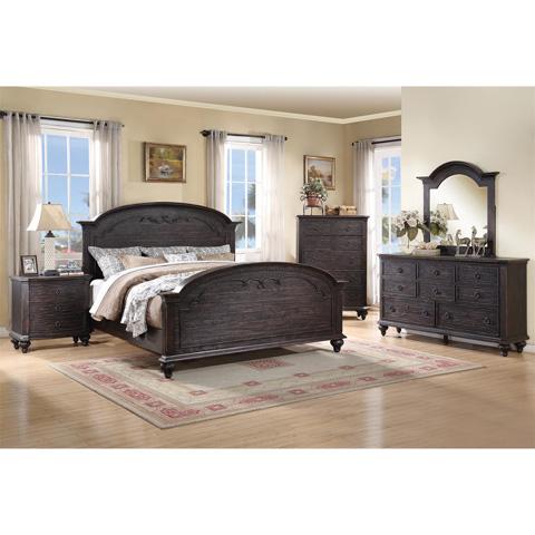 Riverside Furniture - Queen Carved Bed - 11870