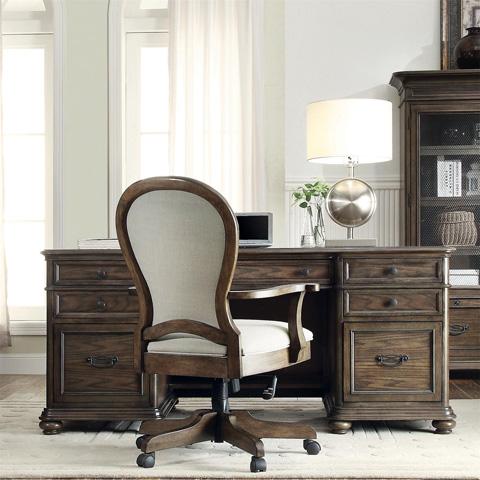 Riverside Furniture - Round Back Upholstered Desk Chair - 15838