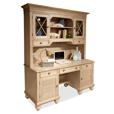 Riverside Furniture - Shutter Door Credenza with Hutch - 32433