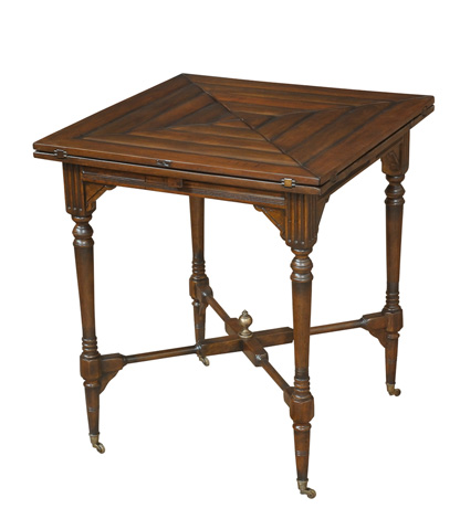 Sarreid Ltd. - French Walnut Handkerchief Game Table - 27286