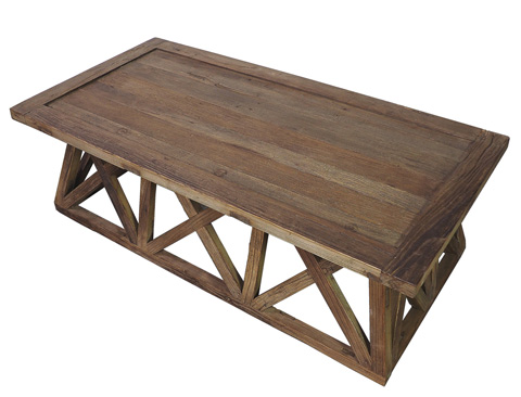 Sarreid Ltd. - Trestle Coffee Table - 29263