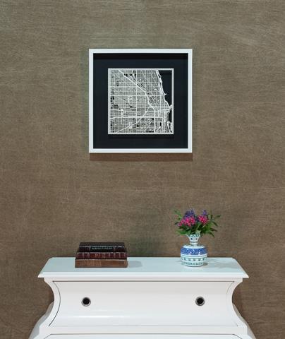 Sarreid Ltd. - Small Chicago Framed Map - 30374