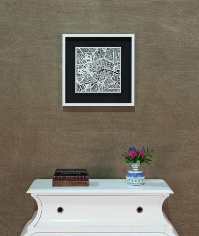 Sarreid Ltd. - Small London Framed Map - 30386
