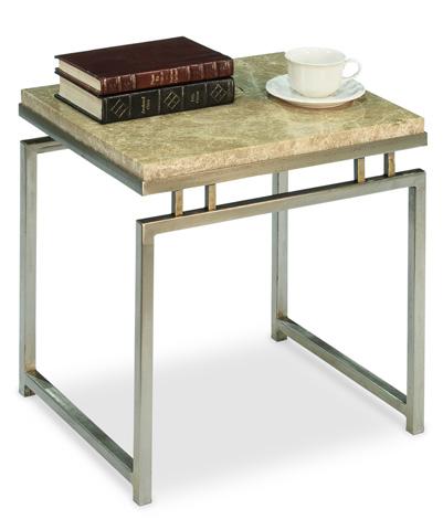 Sarreid Ltd. - Stainless Steel and Marble Side Table - 30442