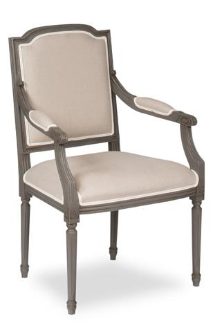 Sarreid Ltd. - Louis XVI Squared Dining Arm Chair - U016-05F01