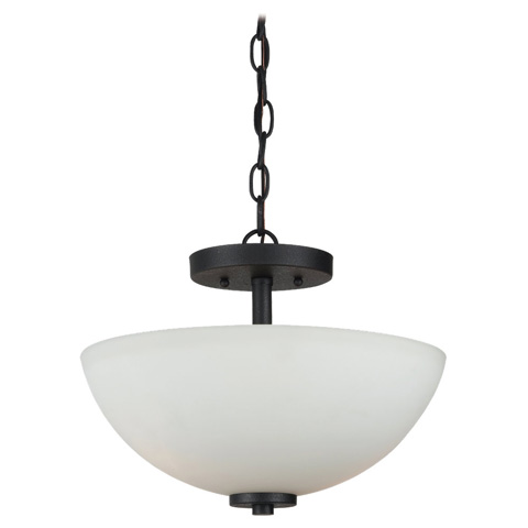 Sea Gull Lighting - Two Light Semi-Flush Convertible Pendant - 77160-839