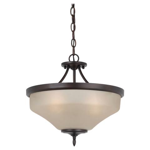 Sea Gull Lighting - Three Light Ceiling Semi-Flush Convertible Pendant - 77180-710