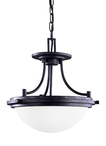 Sea Gull Lighting - Two Light Semi-Flush Convertible Pendant - 77660-839