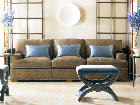 Sherrill Furniture Company - Three Cushion Recessed Arm Sofa - DC48