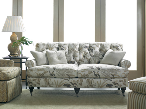 Sherrill Furniture Company - Tufted Two Cushion Sofa with Casters - 3251