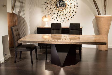 Stone International - Pedestal Dining Table - 4156/S