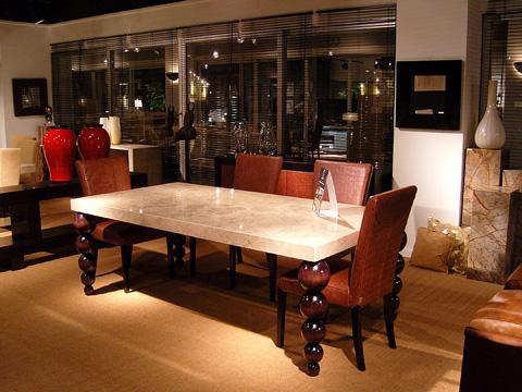 Stone International - Rectangular Dining Table - 9396