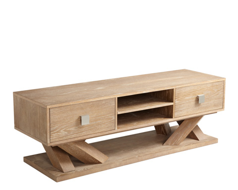 Sunpan Modern Home - Madero Media Stand in Driftwood - 49880