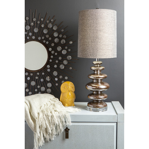 Surya - Silver Table Lamp - LMP-1008