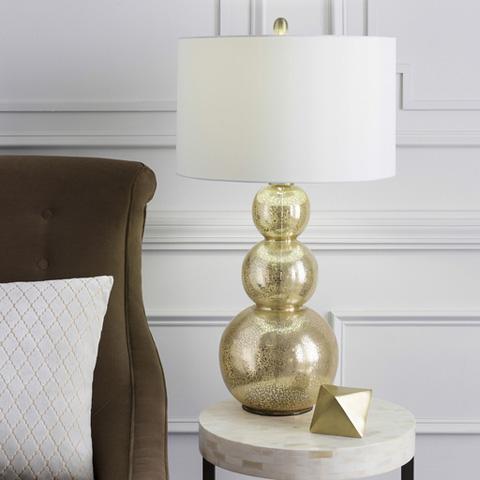 Surya - Gold Sphere Lamp - LMP-1017