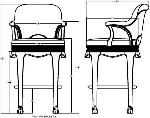 Thomasville Furniture - Kenyan Barstool - 46291-903