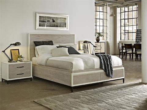 Universal Furniture - Drawer Nightstand with Metal Base - 219350