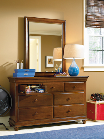 Universal - Smart Stuff - Classics 4.0 Brown Drawer Dresser with Mirror - 1311002/1311032