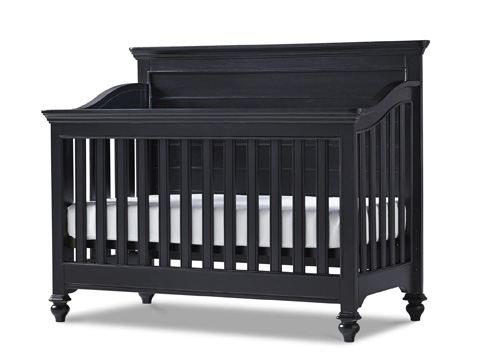 Universal - Smart Stuff - Black and White Convertible Crib - 437B310