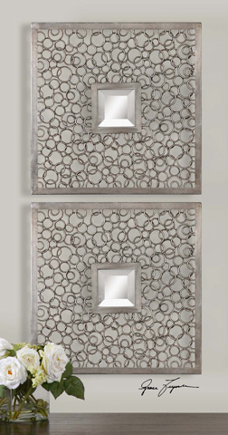 Uttermost Company - Colusa Squares Silver Mirror Set of 2 - 07622