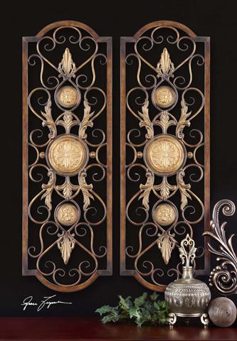Uttermost Company - Micayla Antique Metal Panels - 13475