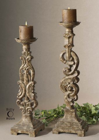 Uttermost Company - Gia Antique Candleholders - 19218