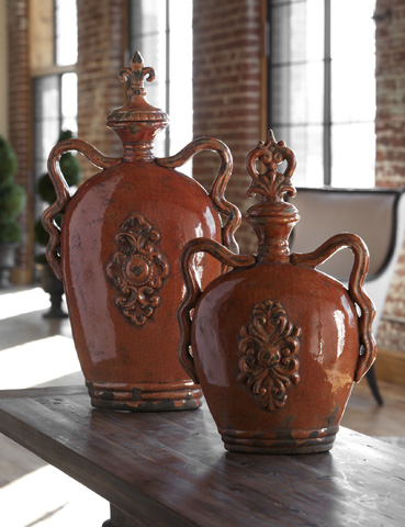 Uttermost Company - Raya Burnt Orange Containers - 19525