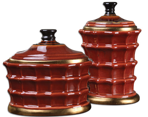 Uttermost Company - Brianna Ceramic Canisters - 19755