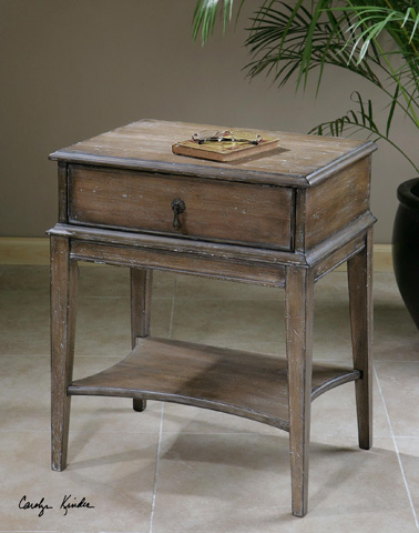 Uttermost Company - Hanford Weathered Accent Table - 24312