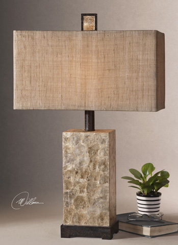 Uttermost Company - Rustic Mother of Pearl Table Lamp - 27347-1