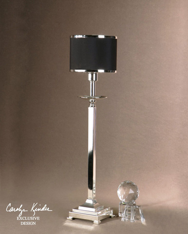 Uttermost Company - Tuxedo Silver Buffet Lamp - 29859-1