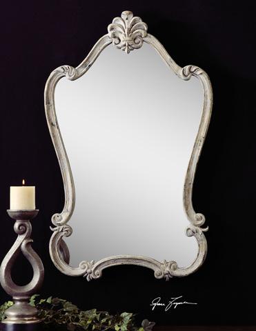 Uttermost Company - Walton Hall White Wall Mirror - 12833