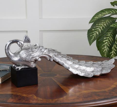 Uttermost Company - Silver Peacock - 19779