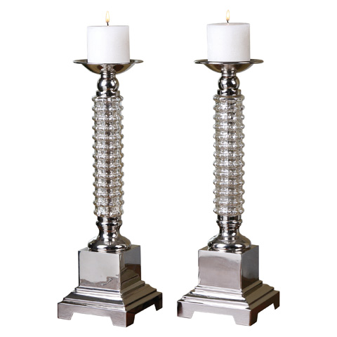 Uttermost Company - Ardex Candleholders - 19840