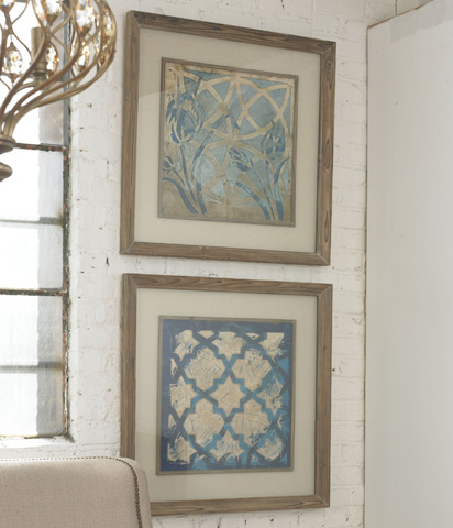 Uttermost Company - Stained Glass Indigo Wall Art - 41512