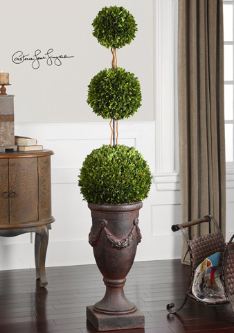 Uttermost Company - Preserved Boxwood Triple Topiary - 60093