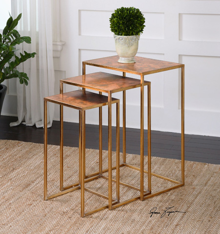 Uttermost Company - Copres Nesting Tables-Set of Three - 24449