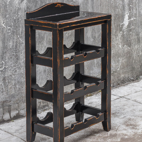 Uttermost Company - Halton Wine Rack Table - 25672
