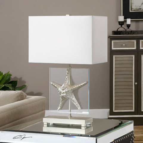 Uttermost Company - Silver Starfish Table Lamp - 27101-1