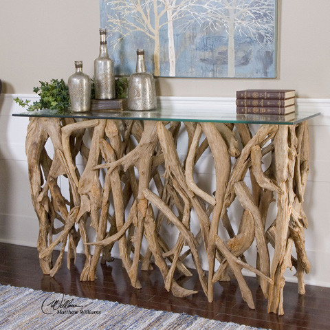 Uttermost Company - Teak Wood Console Table - 25593