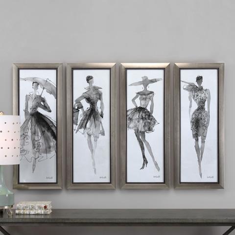 Uttermost Company - Fashion Sketchbook Art-Set of Four - 33624