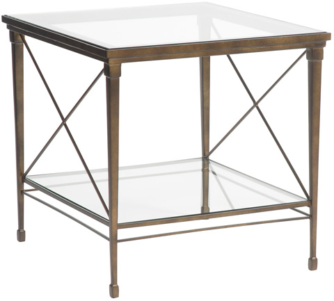 Vanguard Furniture - Hardin Lamp Table with Glass Top - P426L