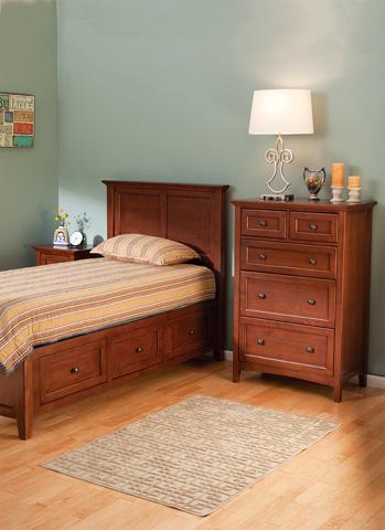 Whittier Wood Furniture - McKenzie Twin Storage Bed - 1300GAC