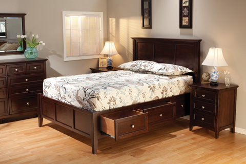 Whittier Wood Furniture - McKenzie Queen Storage Bed - 1316CAF