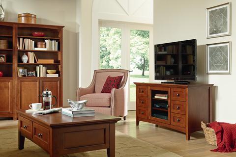 Whittier Wood Furniture - McKenzie Media Console - 2068GAC