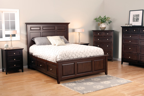 Whittier Wood Furniture - McKenzie Queen Mantel Storage Bed - 2316CAF