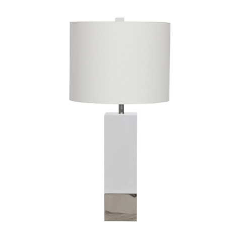 Worlds Away - White Lacquer Table Lamp - HARPER WHN
