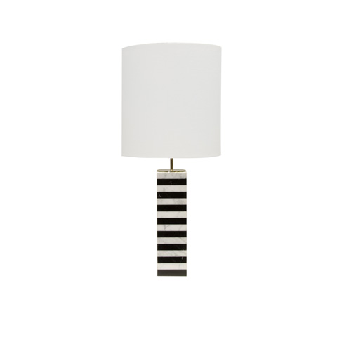 Worlds Away - Marble Stack Table Lamp - MASON