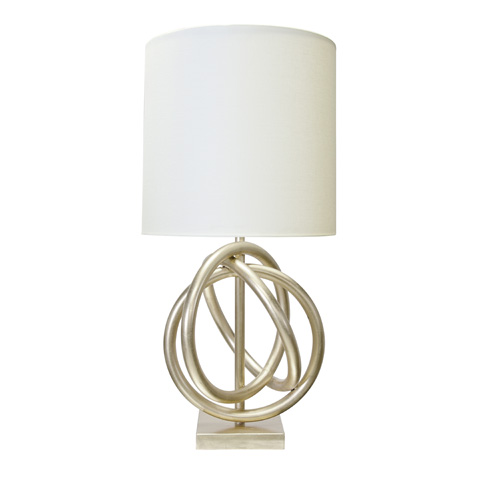Worlds Away - Silver Leaf Table Lamp - NATHAN S